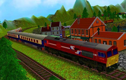боком картинки поезда
