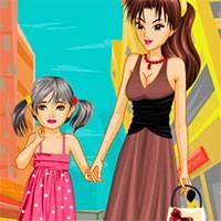Игра Одевалки мама и дочка