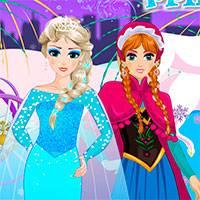 Игра Эльза и анна одевалки