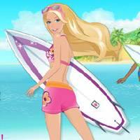 Игра Барби русалочка: Катание на серфе