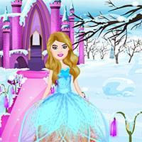 Игра Барби снежная принцесса