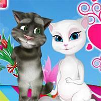 Картинки кот том и анжела