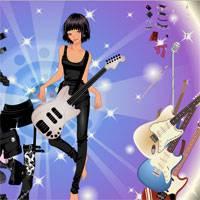 Игра Одевалка рокерши с гитарой