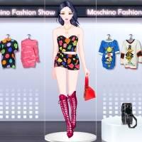 Игра Одевалка для девочек - новая коллекция Moschino