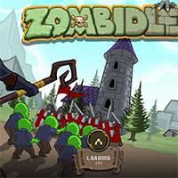 Игра маленький зомби убегает от толпы
