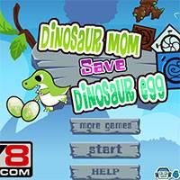 Игра Мама динозавр спасает яйца