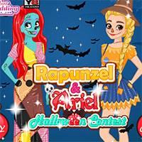 Игра Страшные костюмы Рапунцель и Ариэль