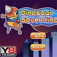 Игра Динозавр спасает принцессу