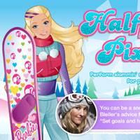 Игра Барби на сноуборде