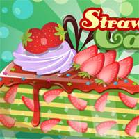 Игра Кулинария: Клубничный торт онлайн