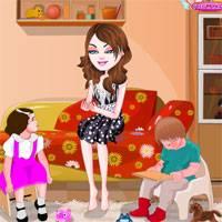 Игра Уход за малышами: наряди няню онлайн