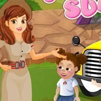 Игра Уход за малышами: Летний лагерь онлайн