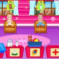Игра Уход за несколькими малышами онлайн
