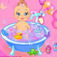 Игра Уход за малышом: Купание онлайн