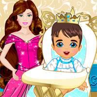 Игра Уход за малышом - принцем онлайн
