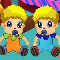 Игра Уход за малышами: Непослушные близнецы онлайн