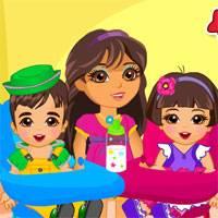 Игра Уход за малышами-близнецами онлайн