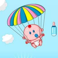 Игра Уход за малышами-парашютистами онлайн