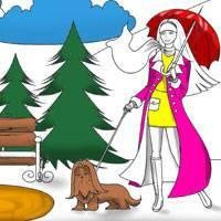 Игра Раскраска: Осенняя прогулка
