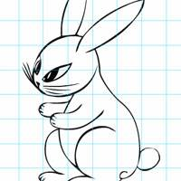 Игра Нарисуй зайца!