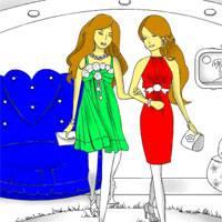 Игра Раскраска: Поход за покупками