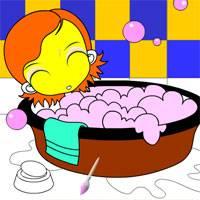 Игра Раскрась ванную
