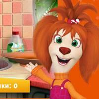 Игра Барбоскины: Лиза моет посуду