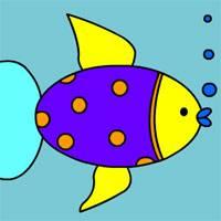 Игра Раскраска: Рыбки в аквариуме