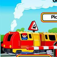 Игры про лего поезда по городу