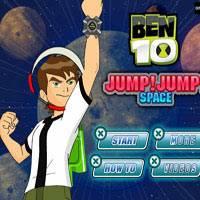 Игра Бен 10 прыгает в космосе онлайн