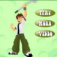 Игра Бен 10 играет в гольф онлайн
