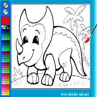 Игра Весёлый динозавр