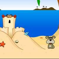 Игры в кота и собаку в пляже