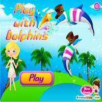 Гонки девочек дельфинах