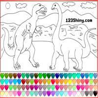 Игра Раскраска динозавры