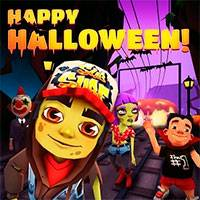 Игра Subway surfers hellowin