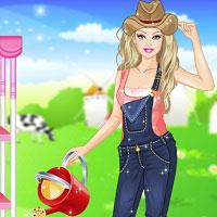 Игра Барби ферма онлайн