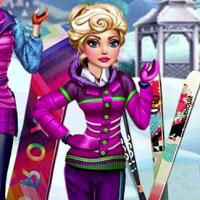 Игра Барби катается на лыжах онлайн