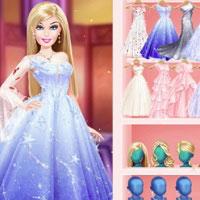 Игра Одевалки Барби на бал онлайн