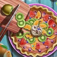 Игра Барби украшает яблочный пирог онлайн