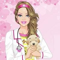 Игра Барби и животные онлайн