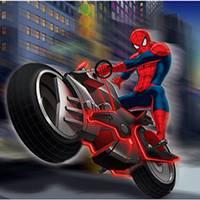 Игра Человек Паук на Мотоцикле онлайн