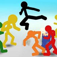 Игра Чёрные человечки драки онлайн