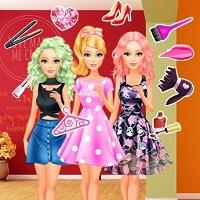 Игра Детские Барби онлайн