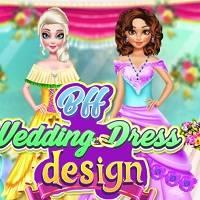 Игра Дизайн свадебных платьев для принцесс онлайн