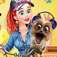 Игра Фотоконкурс принцесс с домашними питомцами онлайн