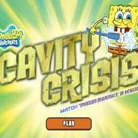 Игра Губка Боб чистит зубы онлайн