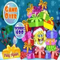 Игра Губка Боб дарит подарки онлайн