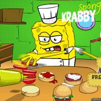 Игра Губка Боб готовит крабсбургеры онлайн