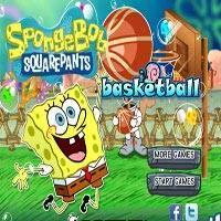 Игра Губка Боб играет в баскетбол онлайн